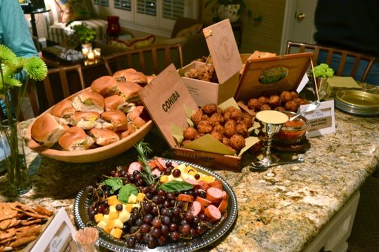 Cigar themed birthday party google search party for Food bar party ideas