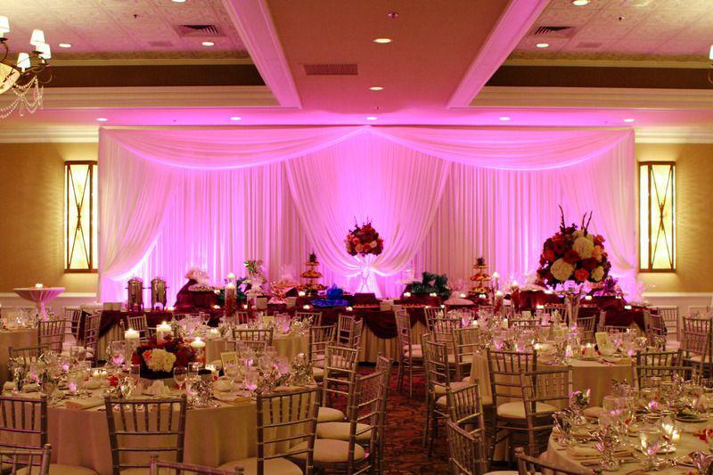 Beautiful setup at this #pink #uplighting #wedding #reception! #diy #diywedding #weddingideas #weddinginspiration #ideas #inspiration #rentmywedding #celebration #weddingreception #party #weddingplanner #event #planning #dreamwedding via #sassychicagowedding