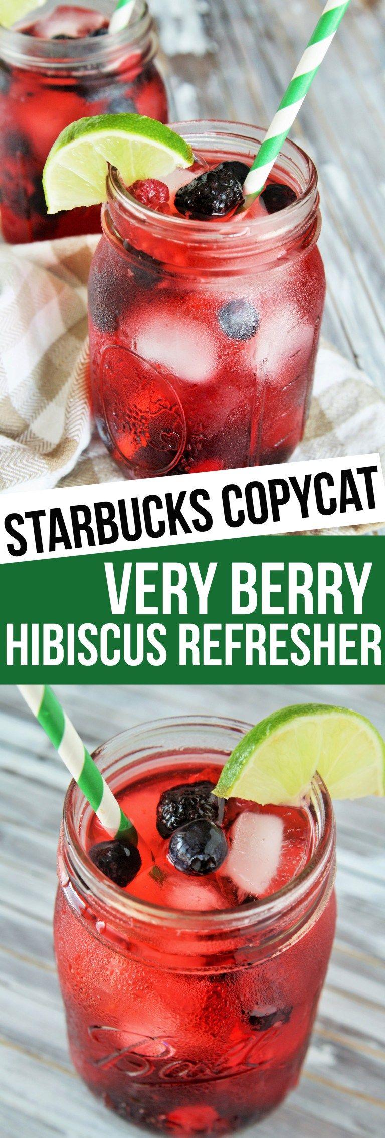 Starbucks copycat very berry hibiscus refresher recipe