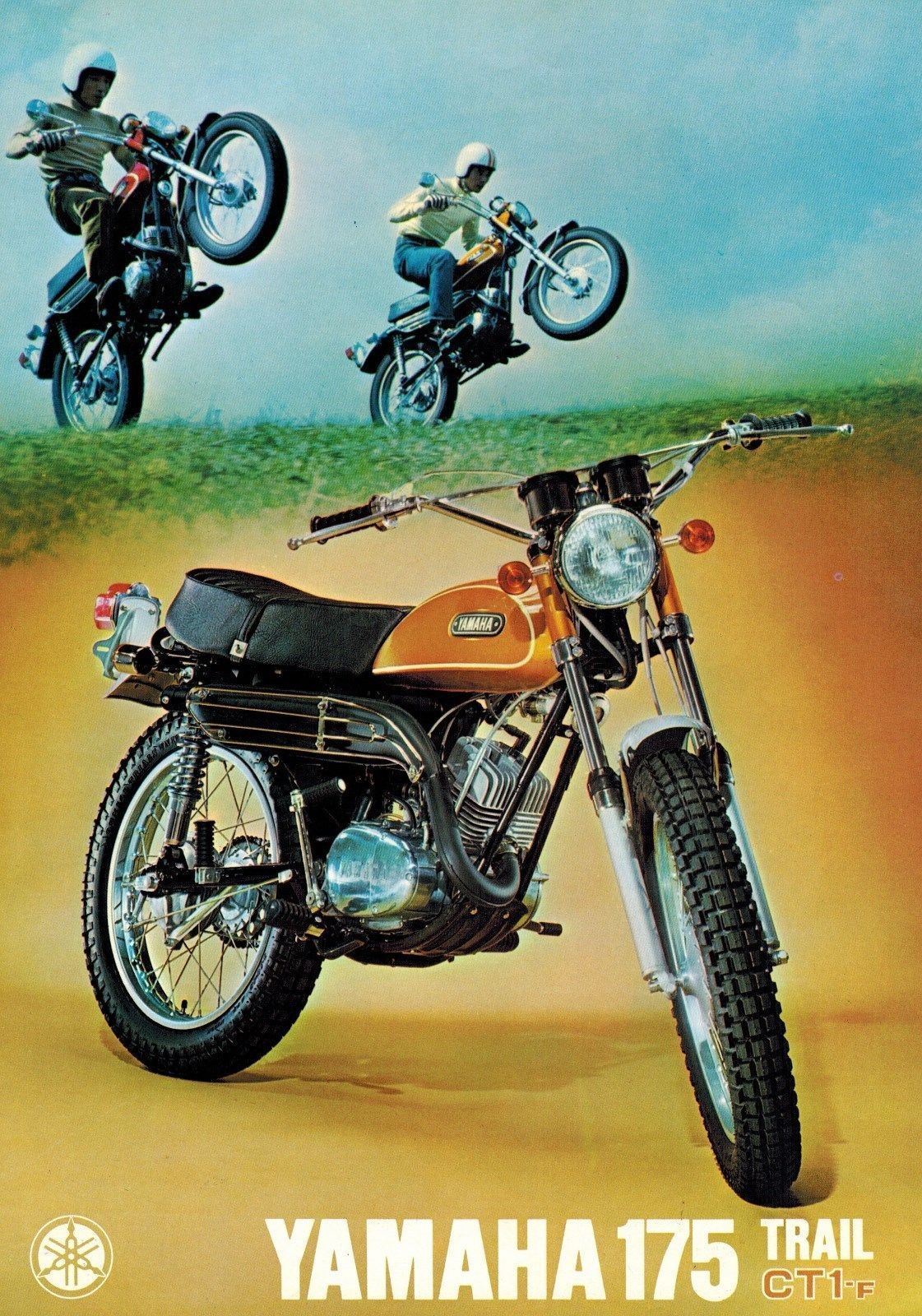 1970 Yamaha 175 Trail CT1 F 4 Pages Motorcycle Brochure | eBay