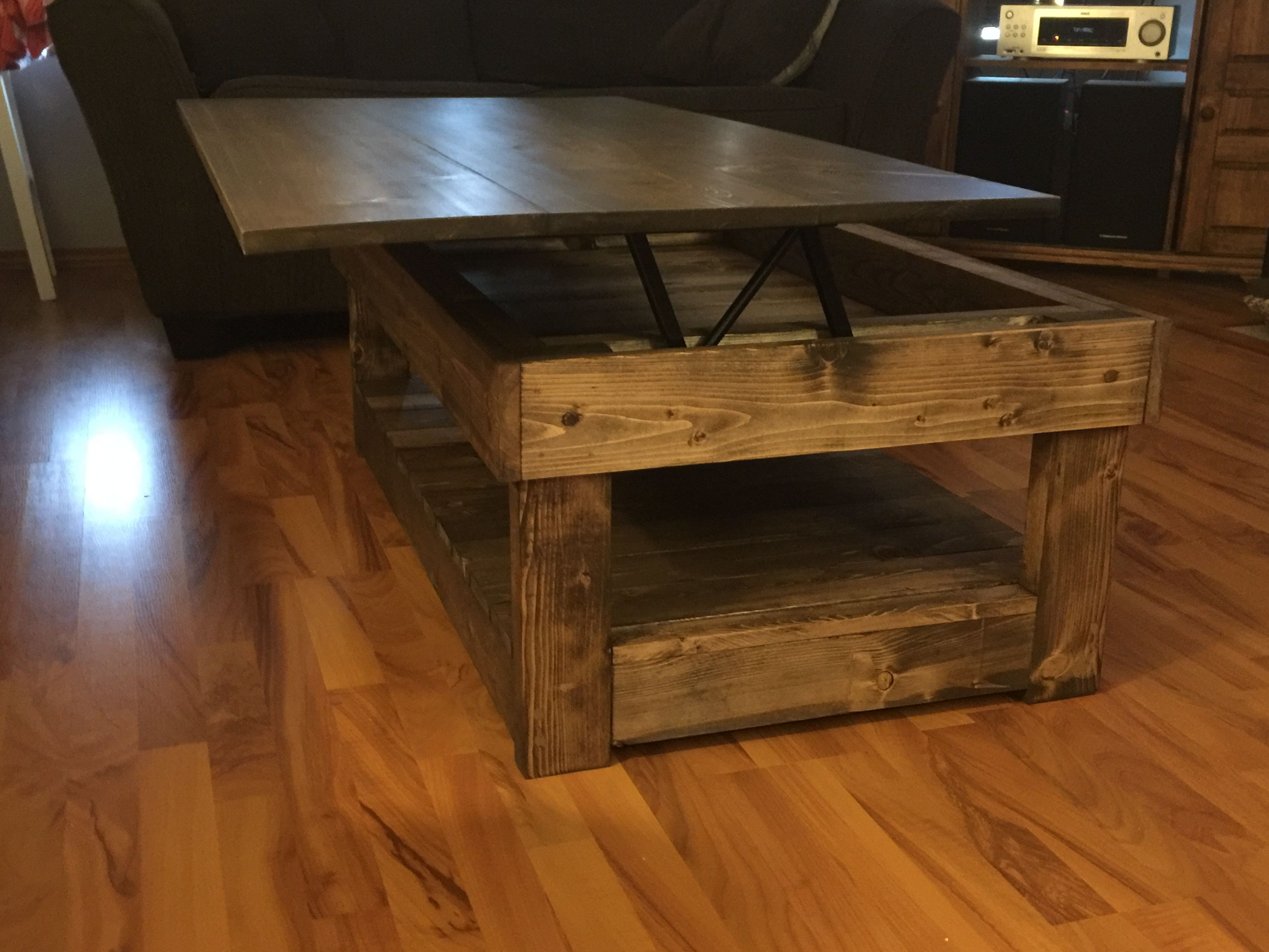 Rustic Lift Top Coffee Table Pallet Dining Table Lift Top
