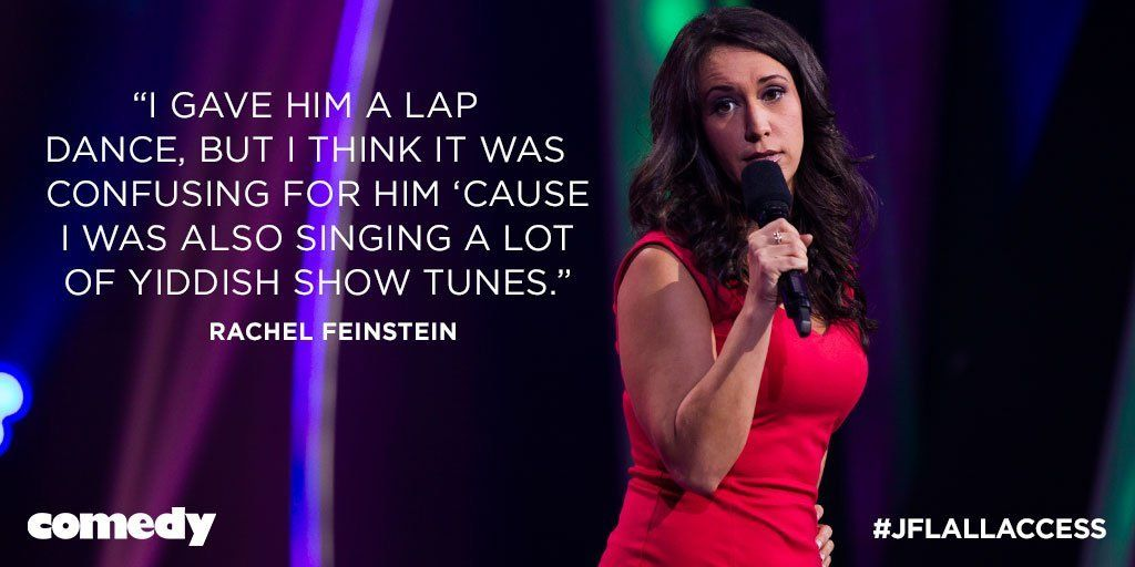 comedynetwork : Fiddler on the Roof just got a little sexier. Catch RachelFeinstein on #JF https://t.co/TvYvCpVpOi) https://t.co/Q3yCE7I2il
