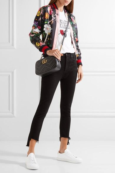 e0116f89c Gucci | GG Marmont Camera small quilted leather shoulder bag |  NET-A-PORTER.COM