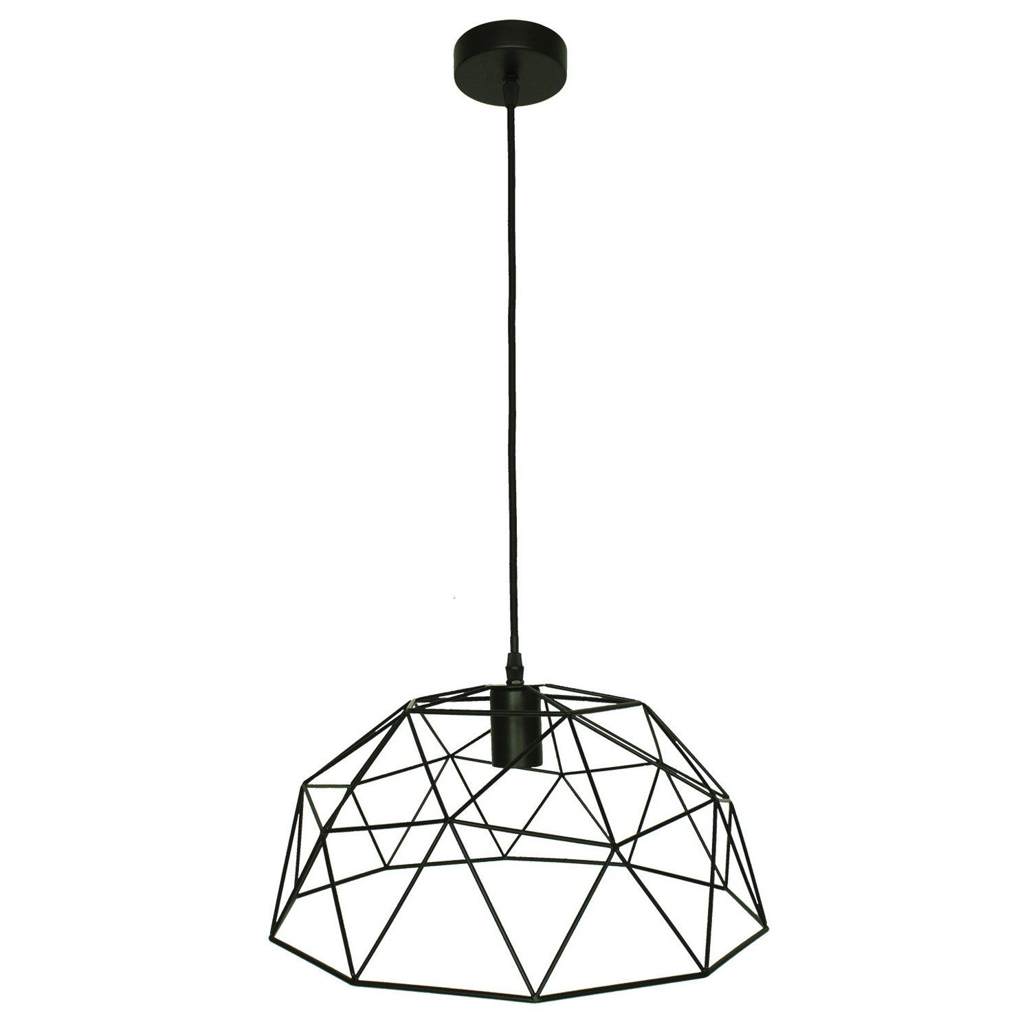 Lustre Design Leroy Merlin #1: Suspension Design Wireframe Métal Noir 1 X 60 W INSPIRE | Leroy Merlin