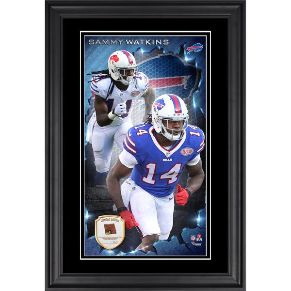 Sammy Watkins Buffalo Bills Fanatics Authentic Vertical Framed Photograph with Piece of Game-Used Football - Limited Edition of 250 - $99.99