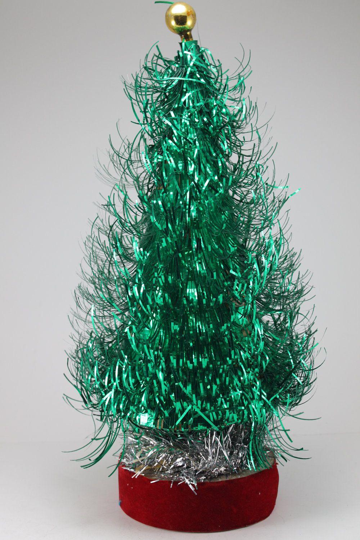 Reserved For Corbett - Vintage Green Aluminum Tinsel Eyelash Tree ...
