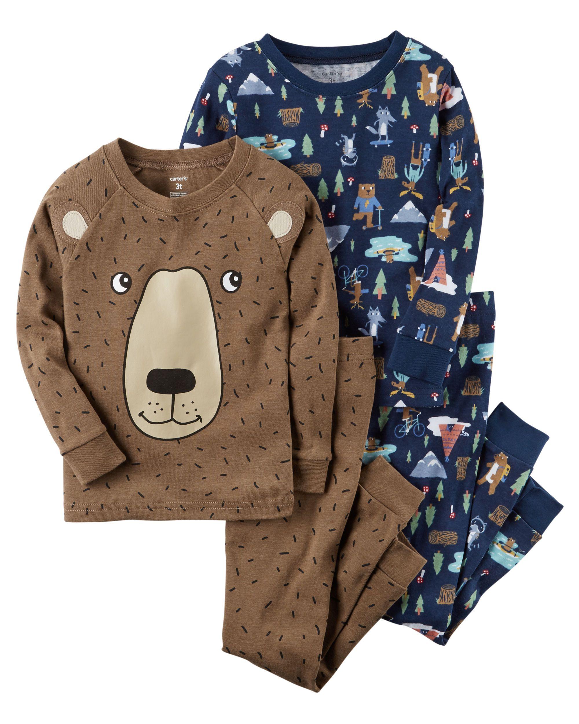 983737cca0d0 4-Piece Camping Snug Fit PJs
