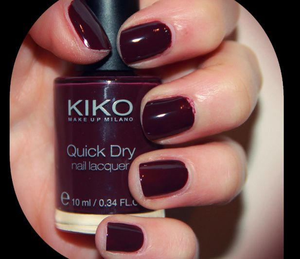 NOTD KIKO Quick Dry Nail Lacquer in 811 Prugna | NAILS | Pinterest