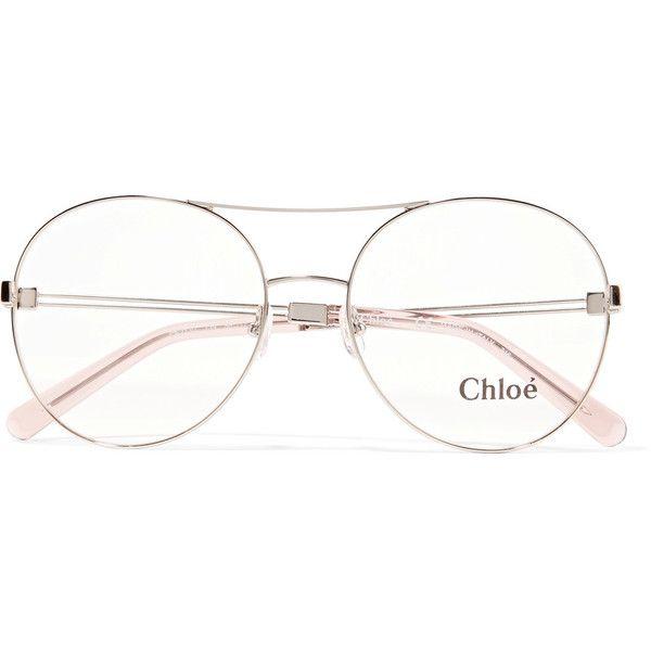ChloéJacky Round-frame Metal Optical Glasses (€240) ❤ liked on ...