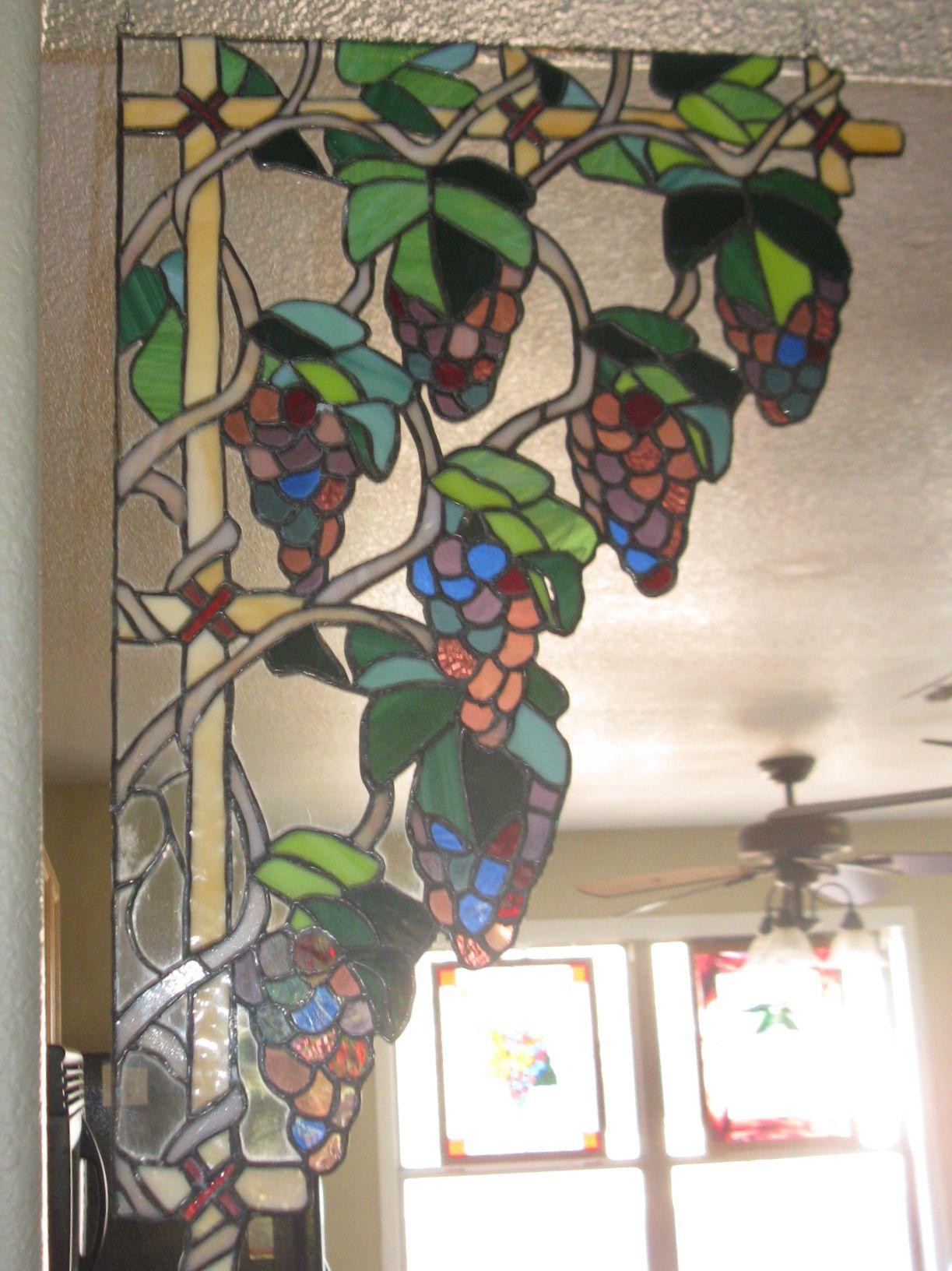 Grape Corner Piece | Stained Glass Corners | Pinterest | Mosaicos y ...