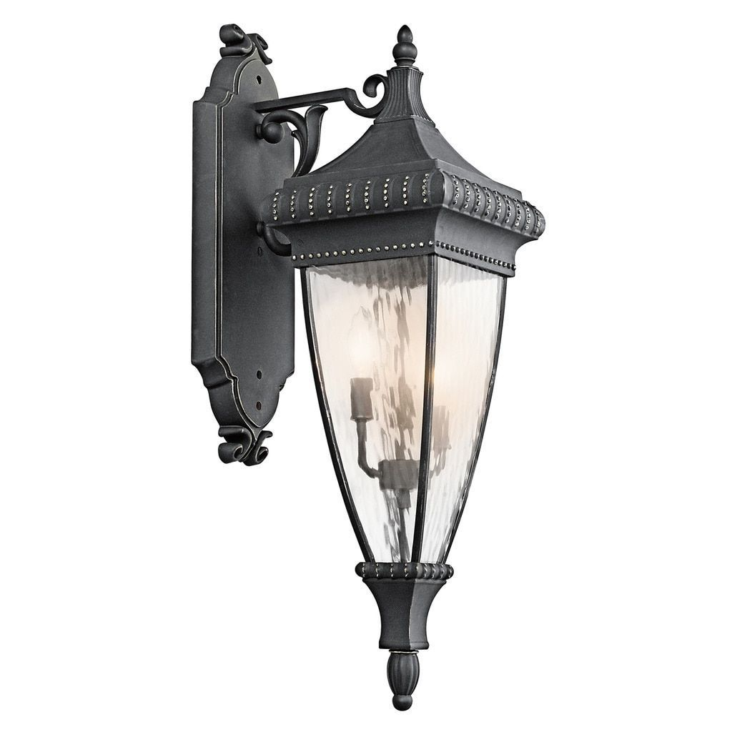 Kichler Lighting Venetian Rain Collection 3-light w/Gold Outdoor Wall Lantern