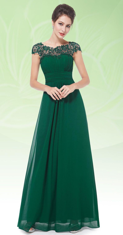 lace cap sleeve evening gown kleider abendkleider und. Black Bedroom Furniture Sets. Home Design Ideas