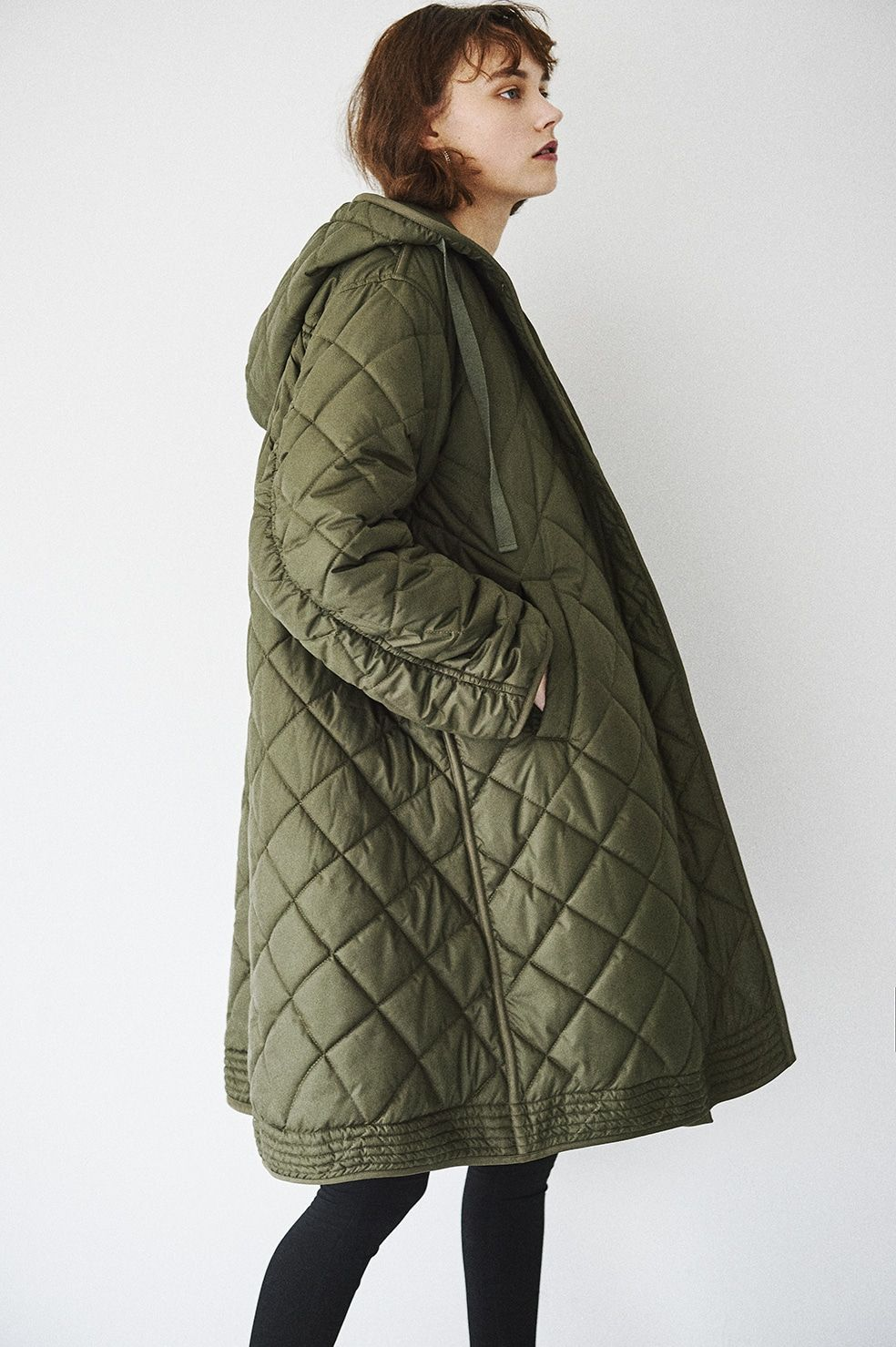 QUILTING HOODIE TENT LINE COAT|OUTER(アウター)|CLANE OFFICIAL ONLINE STORE 77627dfc112