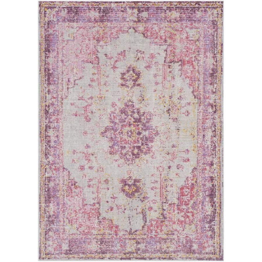 Surya Antioch 4 X 6 Purple Indoor Medallion Oriental Area Rug Lowes Com In 2021 Pink Area Rug Pink Rug Oriental Area Rugs