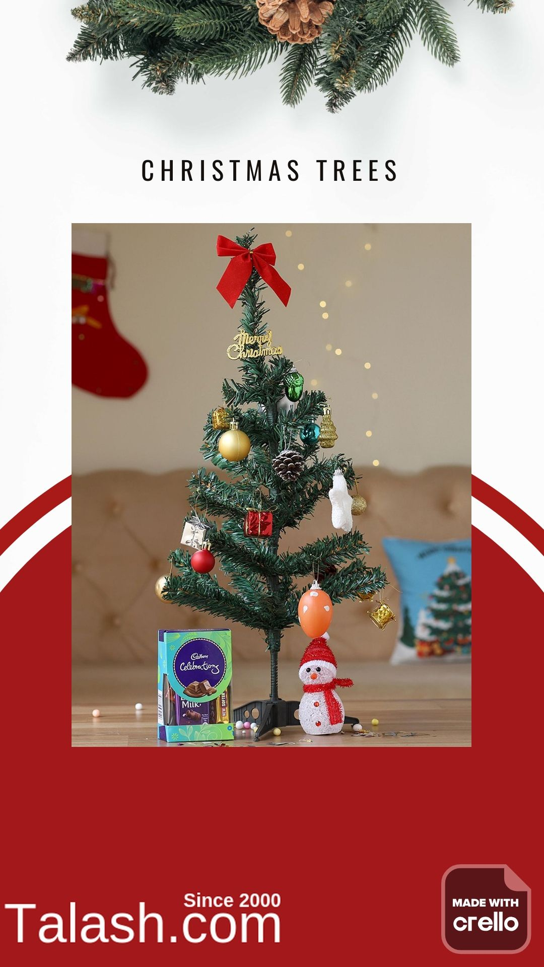 Christmas Trees With Talash Com In 2020 Christmas Real Christmas Tree Christmas Tree