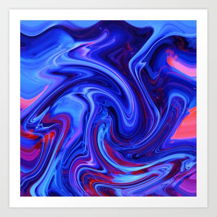 Raging Blue Waters Art Print by jugglingelephants
