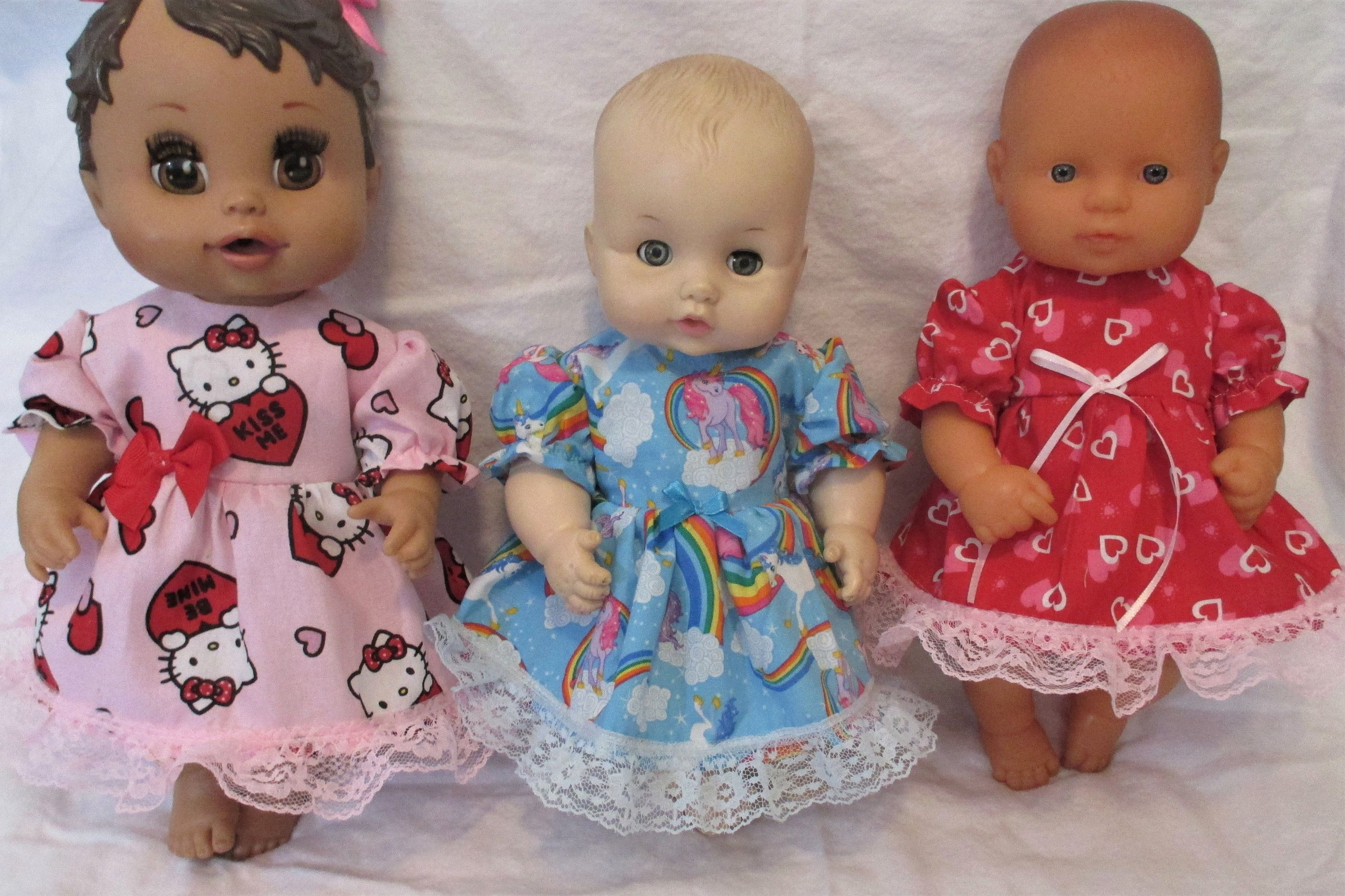 """DOLL CLOTHES BABY DOLL DIAPERS SINGLE WHITE FITS SIZE 12/"""" 13/"""" 14/""""   DOLLS"""