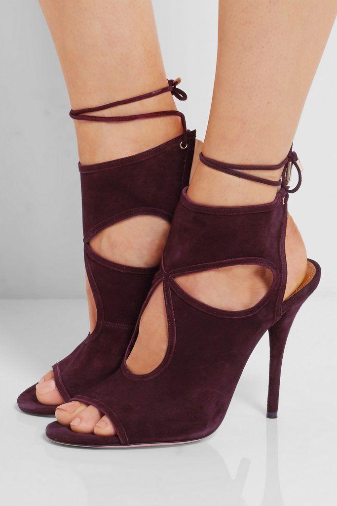 chaussures de soir e femme talons sandales aquazzura talons en daim d coupes sexy thing. Black Bedroom Furniture Sets. Home Design Ideas