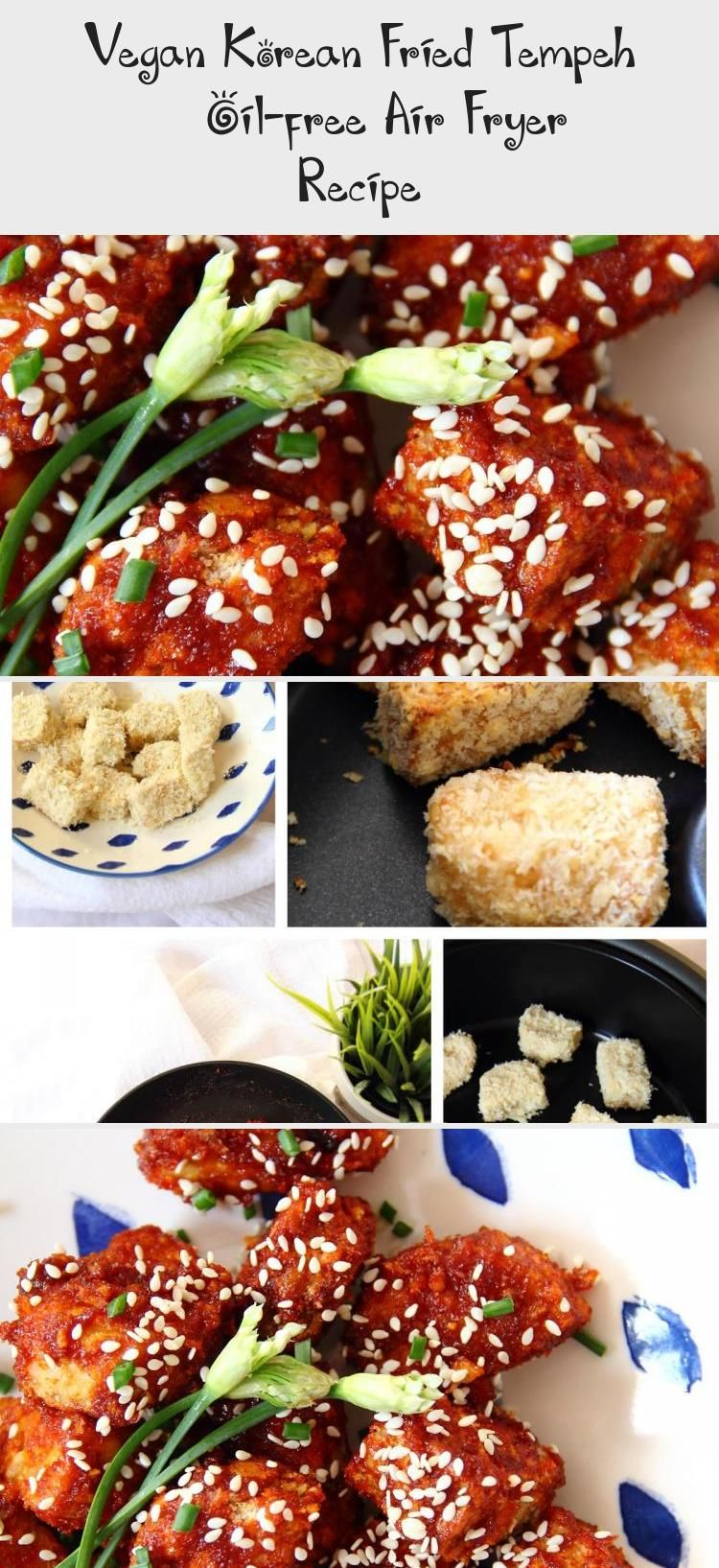 Vegan Korean Fried Tempeh Oilfree Air Fryer Recipe