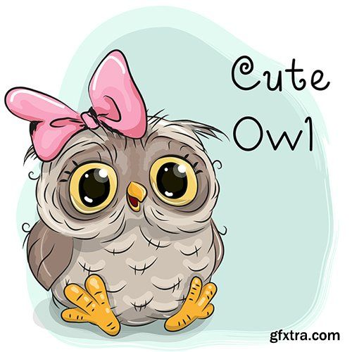 Cute cartoon owl vector photoshop psdafter effects for A cartoon owl