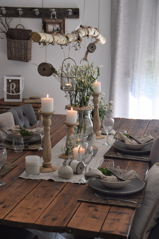 Photo of Sommerliche Tischdeko mit Gartenkräutern – Elas Dekoideen