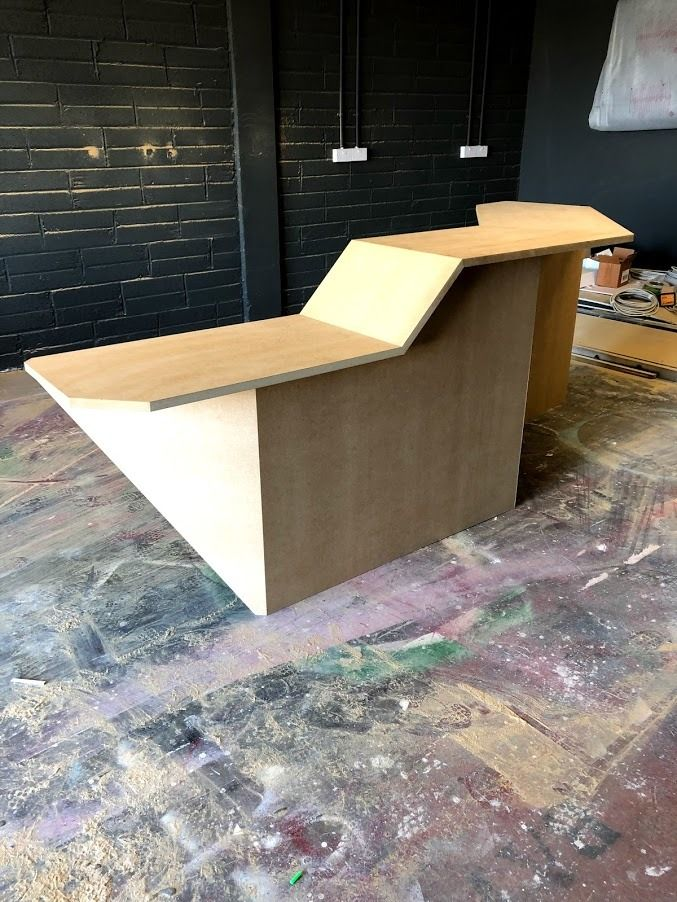 Reception desk created for gaming company in Dublin