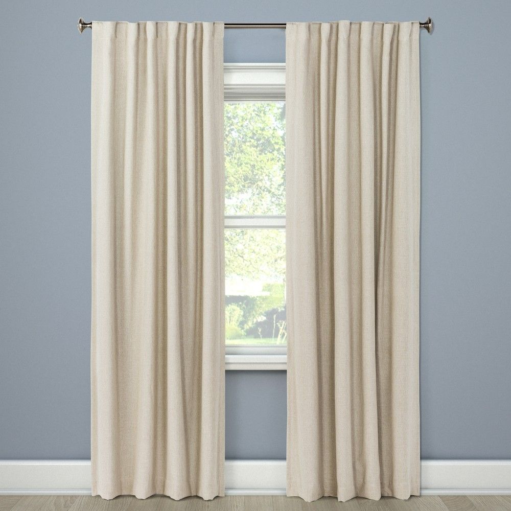 Aruba Curtain Panels 84 X50 Blackout Brown Linen Threshold In