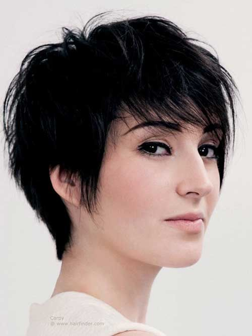 13 Short Haircut For Women With Round Faces Shags In 2019