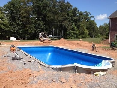 Pool Backfilled with gravel &
