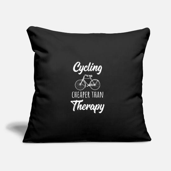 Fahrrad Therapie Spruch Kissenhülle | Spreadshirt