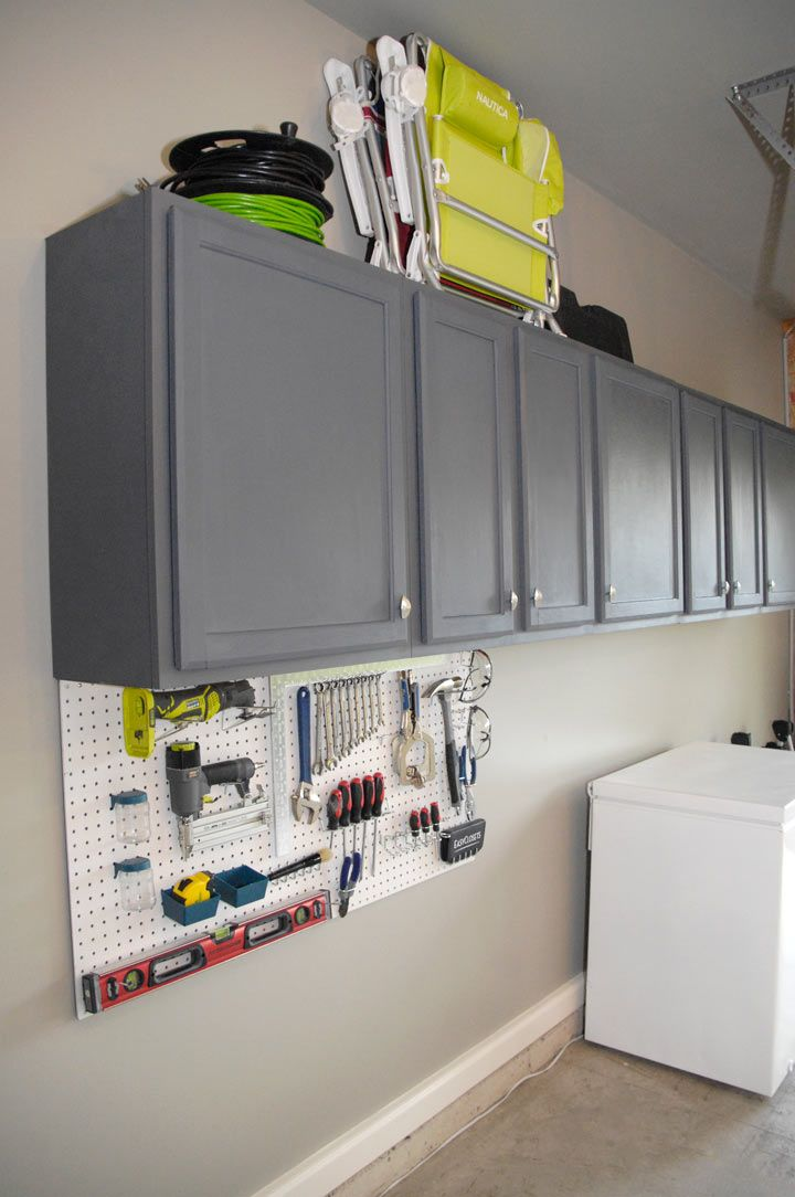 how to paint garage cabinets like a pro by Living Rich on ...