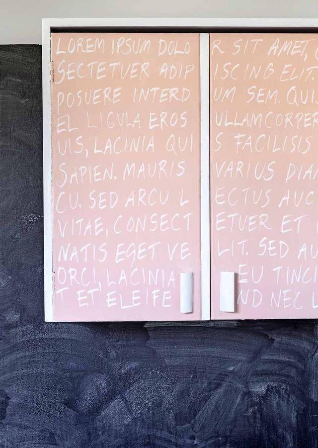 Liitutaulumaali piristää kaapinovet - tee maali itse! | Kotivinkki