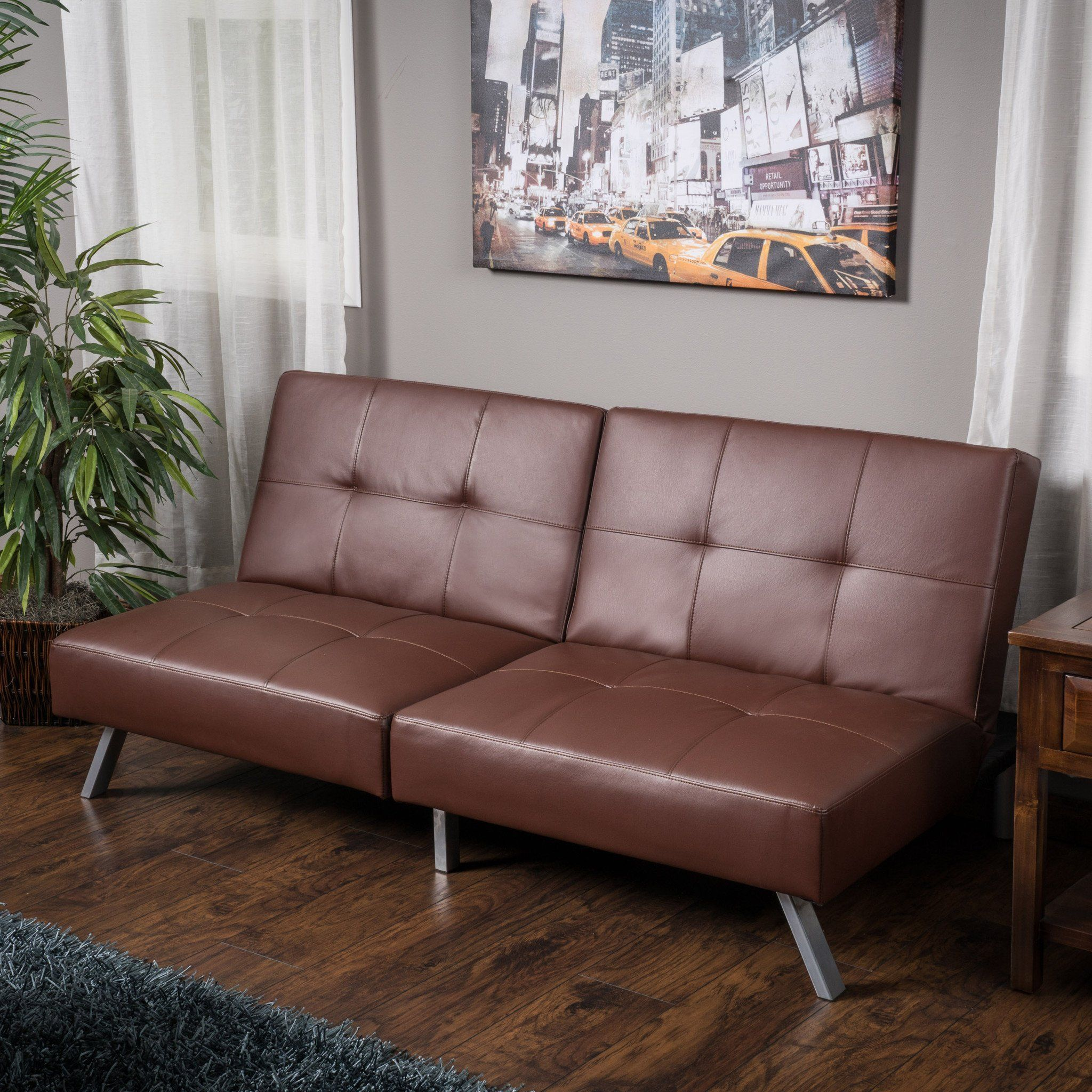 Heston Vinyl Click Clack Futon Sofa Bed Futon sofa bed