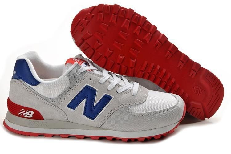 c54106ac2fab5 New Balance ML574CVY Classic Grey Blue Red - The Women Sneaker