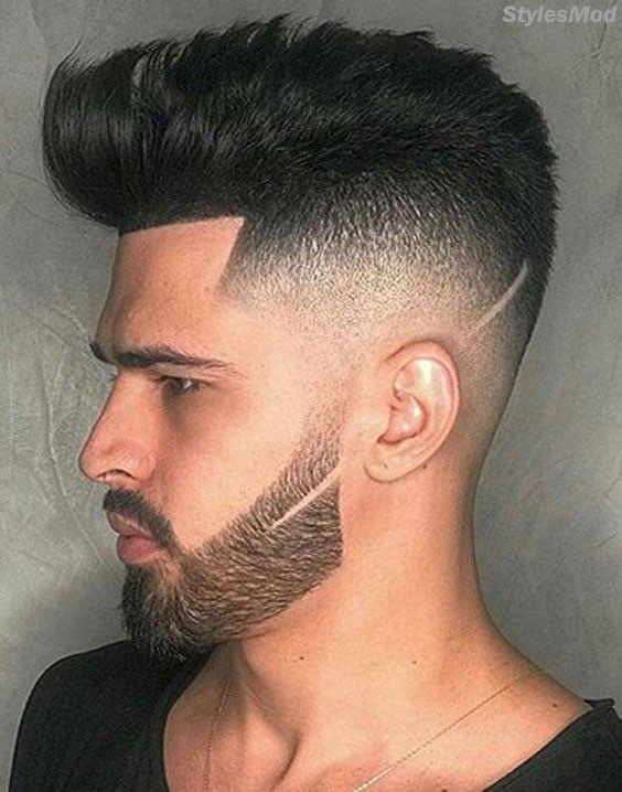 awesome small beard with medium hairstyle for men's in