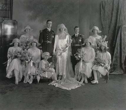 Countess Mountbatten of Burma | The Wedding of the Earl and Countess Mountbatten by Vandyk at Art on ...