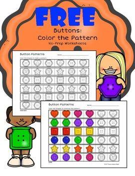 button themed color patterns no prep worksheet pre k math preschool worksheets kindergarten. Black Bedroom Furniture Sets. Home Design Ideas