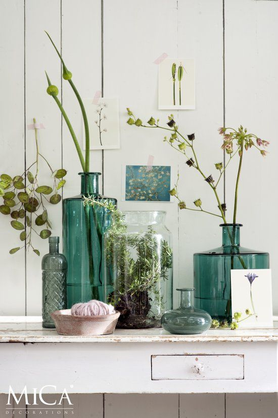 Mica decorations   Handgemaakte glazen vaas Vienne maat in cm: H