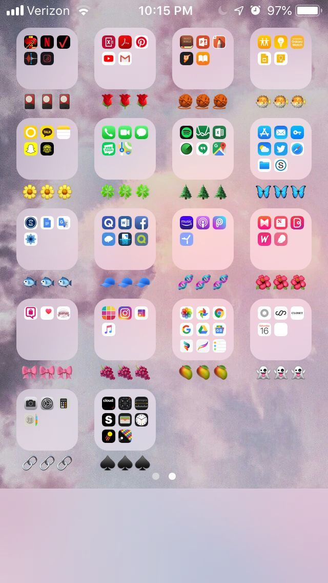 a cute and aesthetic way to organize your phone