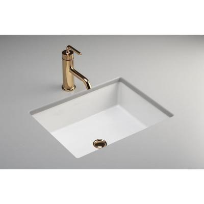 KOHLER, Verticyl Rectangle Under-Mounted Bathroom Sink in White, K