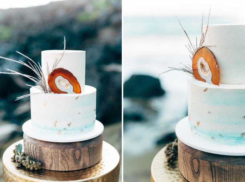Big Island Wedding Cakes, Geo Wedding Cake, www.vintageandlace.com