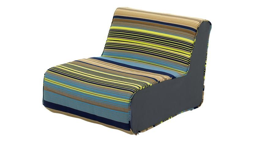 nomad outdoor lounge in urban stripe upholstery. | gloster