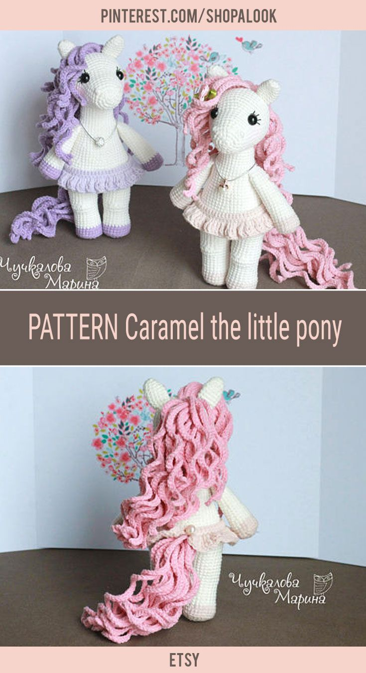 PATTERN Caramel the little pony PDF crochet toy pattern #afflink ...