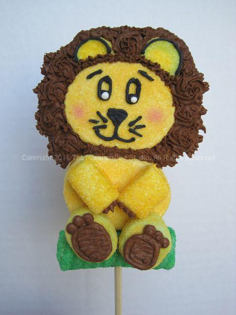 Lion marshmallow pop masmelos Pinterest Leones, Safari y Regalos