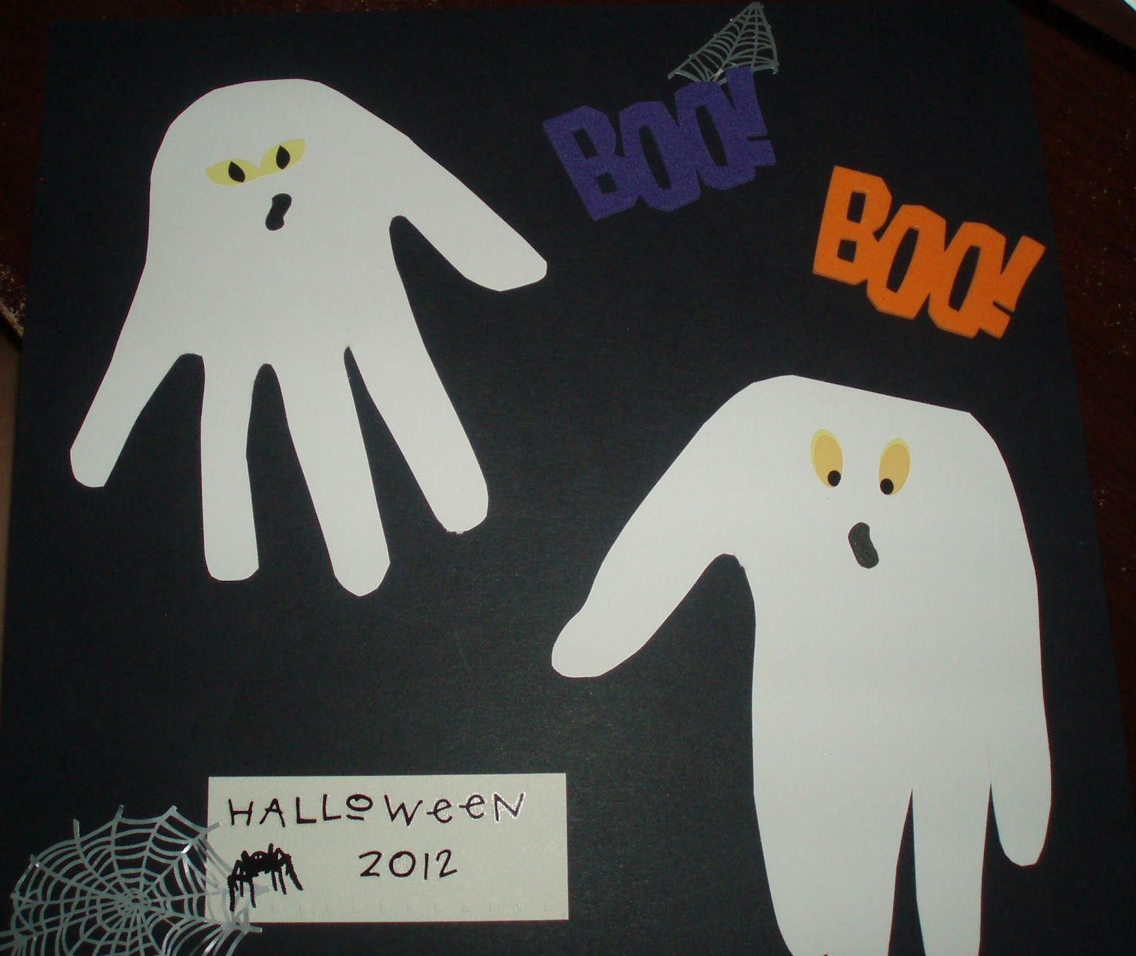Comic Book Crafts Ghost Hand-Print Craft #Halloween Three Ghost - Halloween Decorations For Kids
