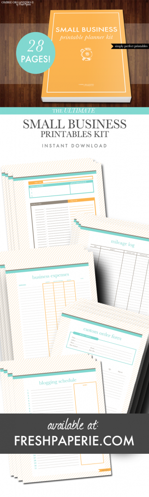 small business printable planner kit by fresh paperie wahm
