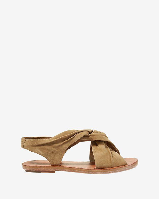 Derek Lam 10 Crosby Pell Criss Cross Suede Flat Sandal At Intermix Shop Now Shop Intermixonline Com Leather Shoes Woman Suede Flats Sandals