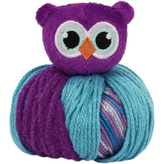 DMC Top This Hat Yarn with Owl Topper | yarn | Pinterest