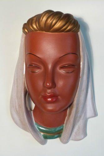 GOLDSCHEIDER Art Deco wall mask