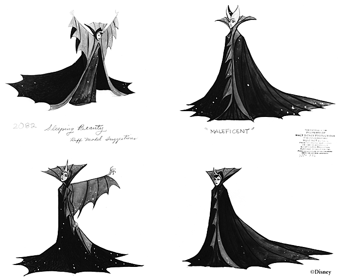 Concept art for the Maleficent character in Disney's